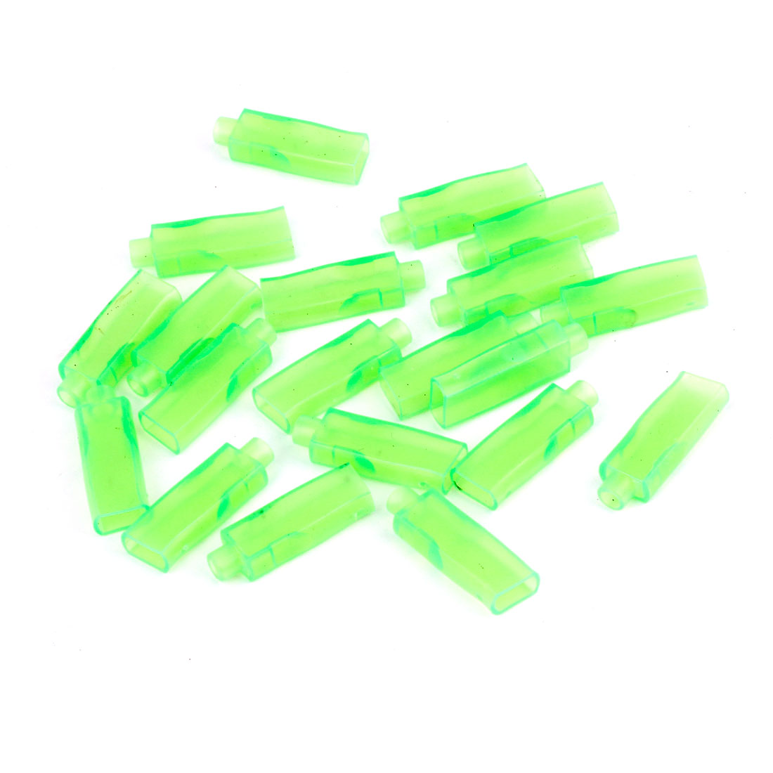 Unique Bargains 20 Pcs Green Soft PVC 6.3mm Daul Female Crimp Terminal Insulated Sleeves