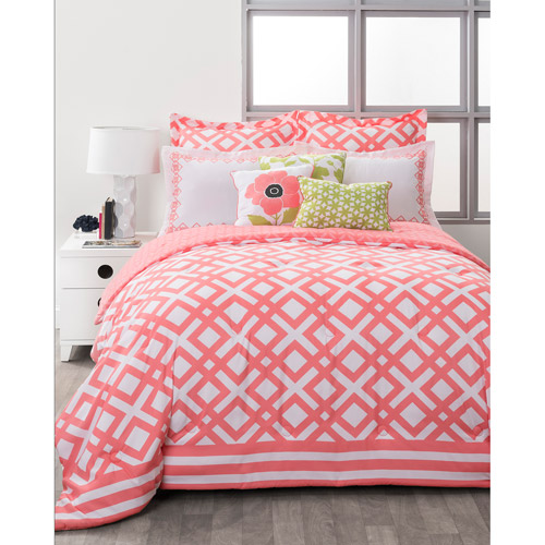 Style Nest La Jolla Coral Bed In A Bag 8 Piece Bedding Set