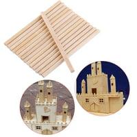 Yosoo 100pcs 80mm Round Wooden Sticks For DIY Wood Crafts Home Garden Decoration,Wooden Sticks, Craft Sticks