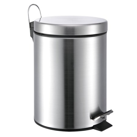 Neat O 5 Liter13 Gallon Small Round Stainless Steel Step Trash Can