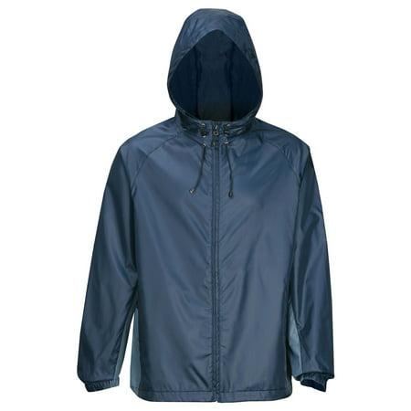 Tri-Mountain Men's Waterproof Hooded Shell Jacket