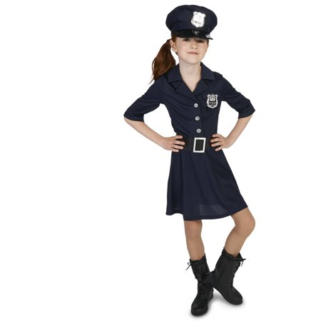 Police Officer Girl Child Halloween Costume - Harley Davidson Biker Girl Halloween Costume