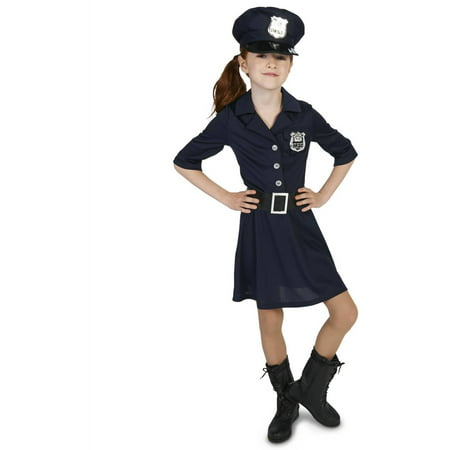 Police Officer Girl Child Halloween Costume - Homemade Halloween Costume Ideas For Girls