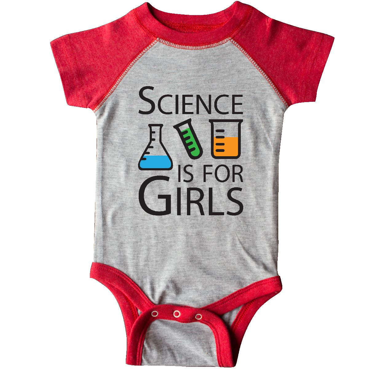 Inktastic Science Is For Girls Infant Creeper Beaker Girl Power Baby Gift