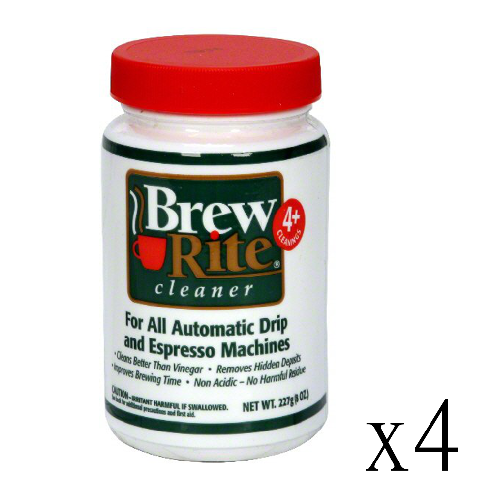 Click here to buy 4 Brew Rite Cleaner for Automatic Drip Coffee and Espresso Machines.