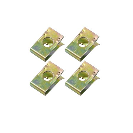U-clip Bonded Fastener (4pcs 6mm Dia Car Screw U-Clips Rivets Door Panel Fasteners 17 x)