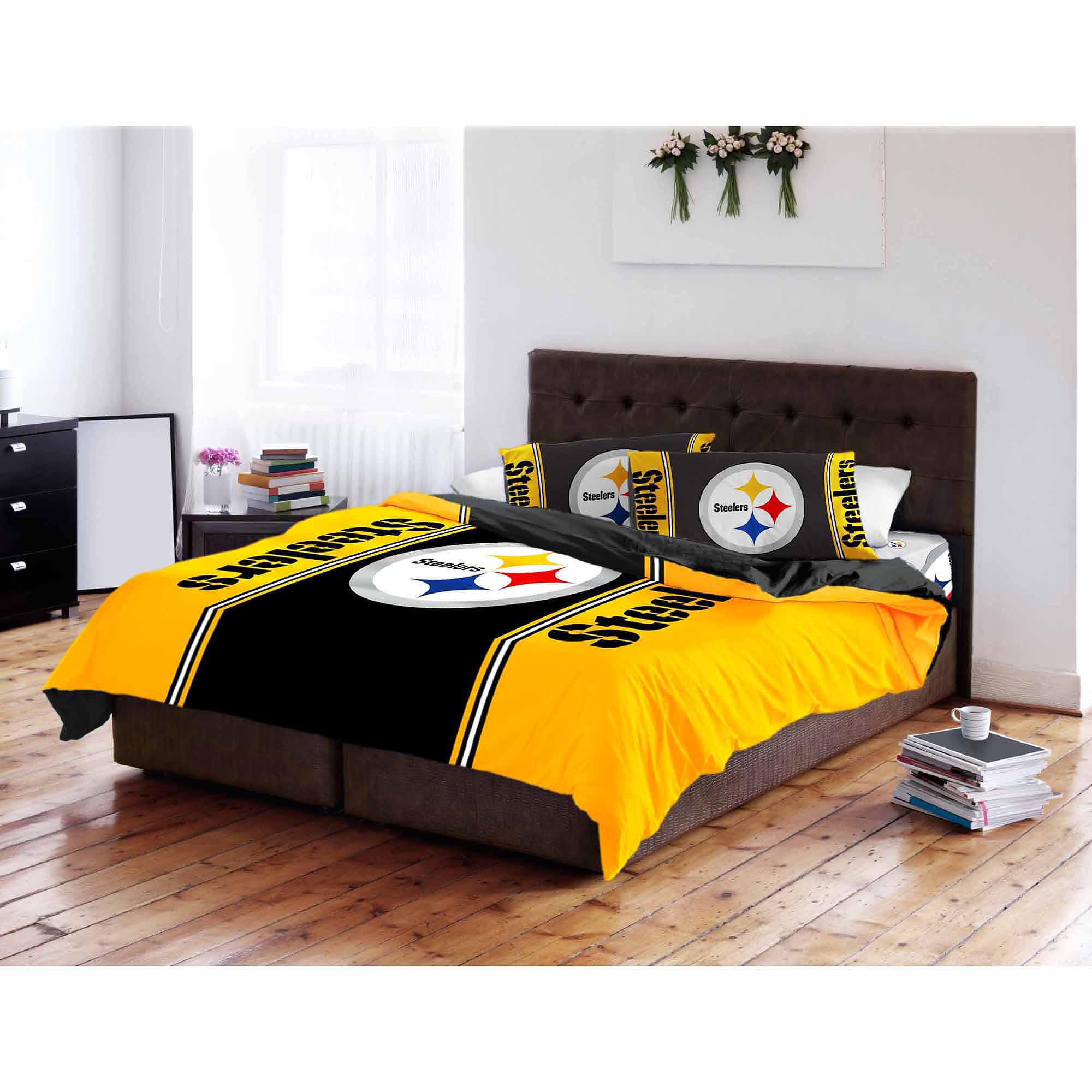 Nfl Pittsburgh Steelers T/f Comforter