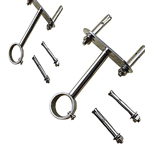 Easy2Hang Curtain Rod Brackets for Ceiling, Wall or End Mounting 2PACK up to 1-1/4 in diameter