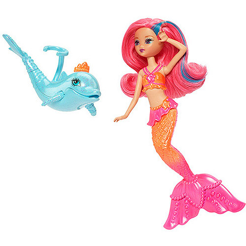 Barbie The Pearl Princess Mermaid Doll with Dolphin