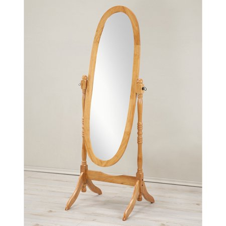 Elite Heavyweight Mirror Finish (Roundhill Traditional Queen Anna Style Wood Floor Cheval Mirror, Oak)