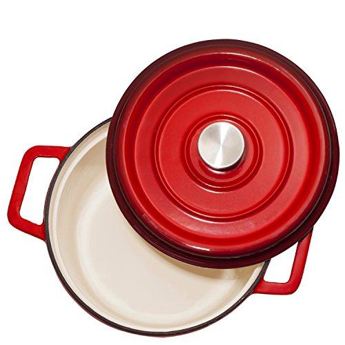 Bruntmor, Enameled Cast Iron Dutch Oven Casserole Dish 6....