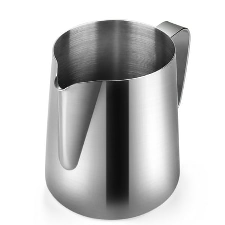 Stainless Steel Milk Frothing Pitcher - Milk Steamer Cup Jug Creamer Accessories Suitable for Barista, Espresso Machines, Cappuccino Coffee, Milk Frother, Latte Art 12 oz (350 ml)