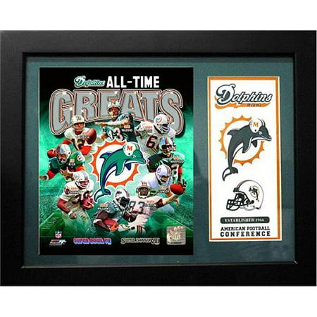 NFL Miami Dolphins Deluxe Frame, 11x14 Deluxe Frame Miami Heat