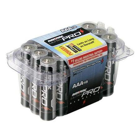 Rayovac 620-ALAAA-18PPJ 0.4 oz Ultra Pro AAA 1.5V Alkaline Batteries - Pack of 18,