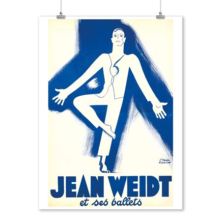 Jean Weidt et ses ballets Vintage Poster (artist: Paul Colin) France c. 1938 (9x12 Art Print, Wall Decor Travel Poster)