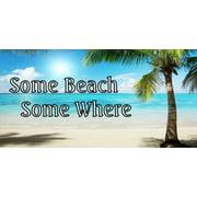Some Beach Some Where Ocean Scene Photo License Plate