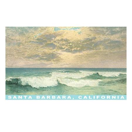 Waves at Santa Barbara, California Print Wall Art