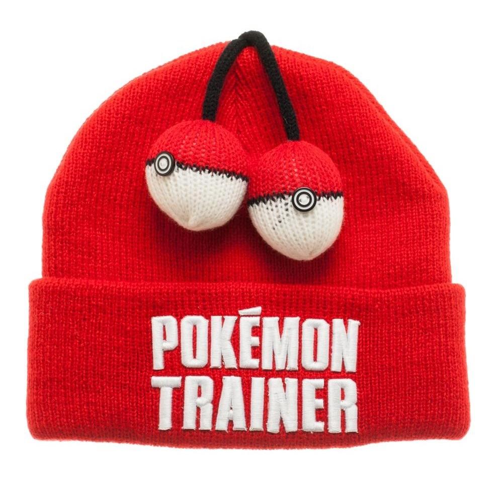 Nintendo Pokemon Trainer Cuff Beanie Hat Adult Children Red Go ... f734c47ada41