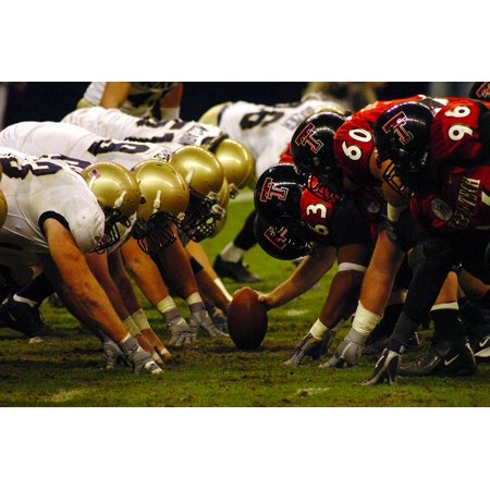 Canvas Print Football Scrimmage Line Defense Offense American Stretched Canvas 10 x - Scrimmage Line