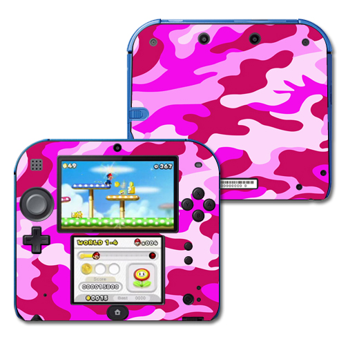 Mightyskins Protective Vinyl Skin Decal Cover for Nintendo 2DS wrap sticker skins Pink Camo