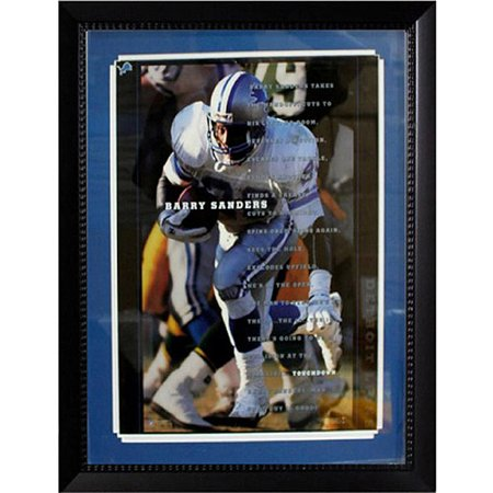 Barry Sanders Pro Football (NFL Barry Sanders Custom Frame, 20x24 )