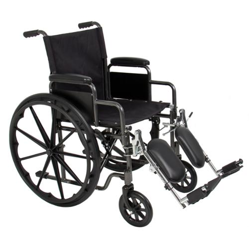 Folding Wheelchair Full Armrests & Elevating Legrests Light Weight