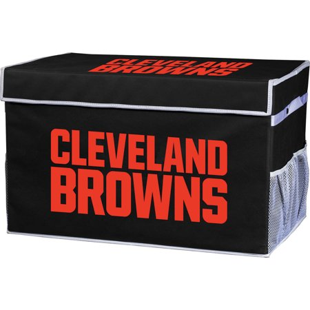 Franklin Sports NFL Cleveland Browns Collapsible Storage Footlocker Bins - (Cleveland Stores)