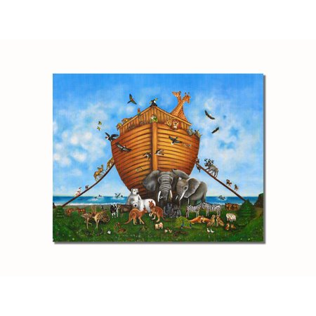 Noahs Ark Animals Religious Kids Room Wall Picture 8x10 Art Print