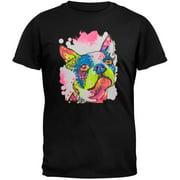 Boston Terrier Neon Black Light Adult T-Shirt