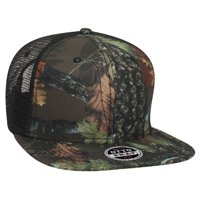 ef5c67d5424 Otto Cap Camouflage Superior Polyester Twill Square Flat Visor Pro Style  Mesh Back Caps - Hat