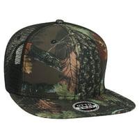 fc95cb1f6e6 Otto Cap Camouflage Superior Polyester Twill Square Flat Visor Pro Style  Mesh Back Caps - Hat