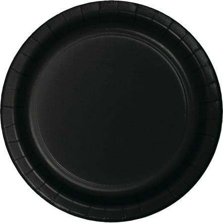 Creative Converting Black Dessert Plates, 8 ct - Black Dessert Plates