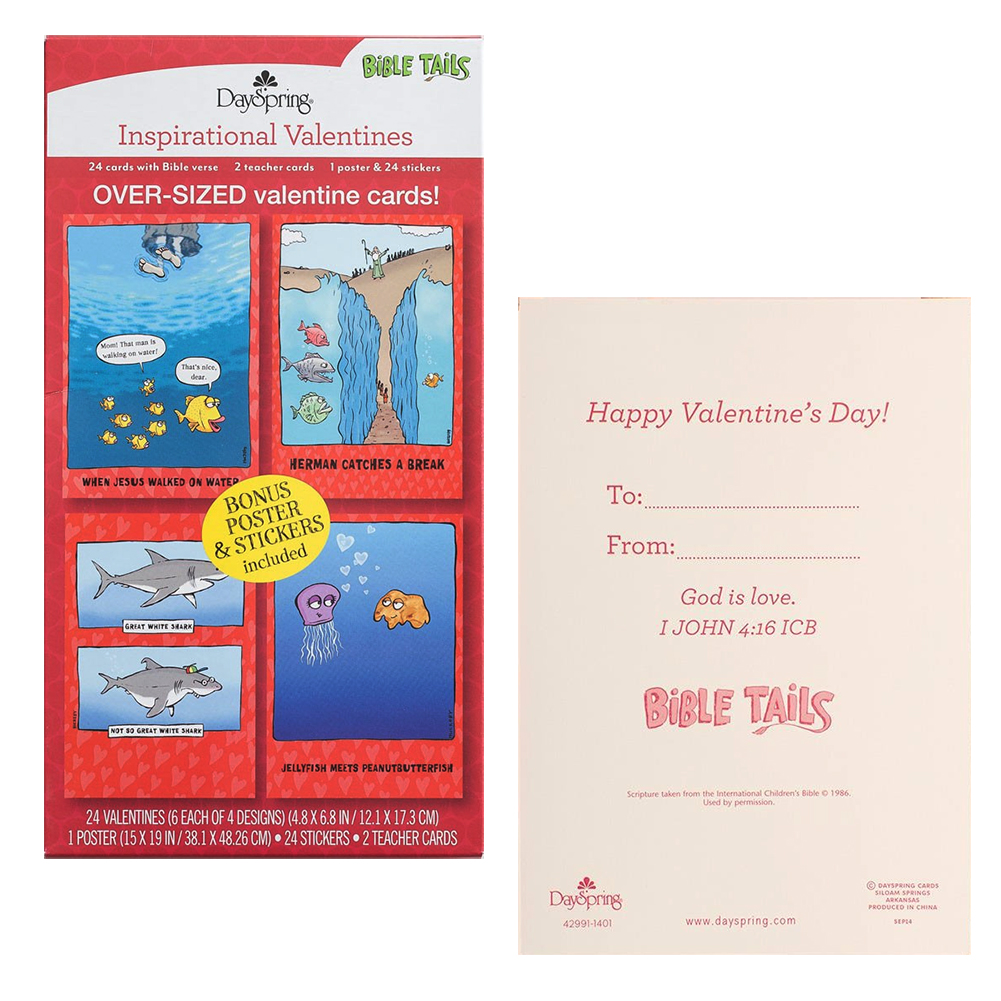 Valentine Cards Boxed Herman S World 24 Over Sized Cards With Bible