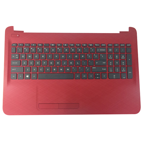 Genuine HP 15-AC 15-AF Red Palmrest w/ Keyboard & Touchpad 813979-001