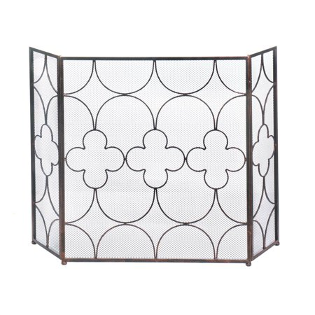 Iron Fireplace Screen Modern Decorative Fireplace Screens Three Panel