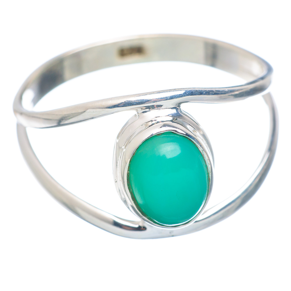 Ana Silver Co Chrysoprase Ring Size 9.25 (925 Sterling Silver) Handmade Jewelry RING855575 by Ana Silver Co.
