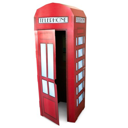 Superhero Comics Phone Booth cardboard Stand, 6' Tall