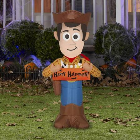 Gemmy 3.5' Airblown Woody w/Banner Disney Halloween