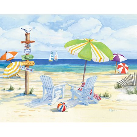 Beachside Chairs - Mini Day Vacation Best Ocean Coast Beach Classy Travel Bed Room Picture
