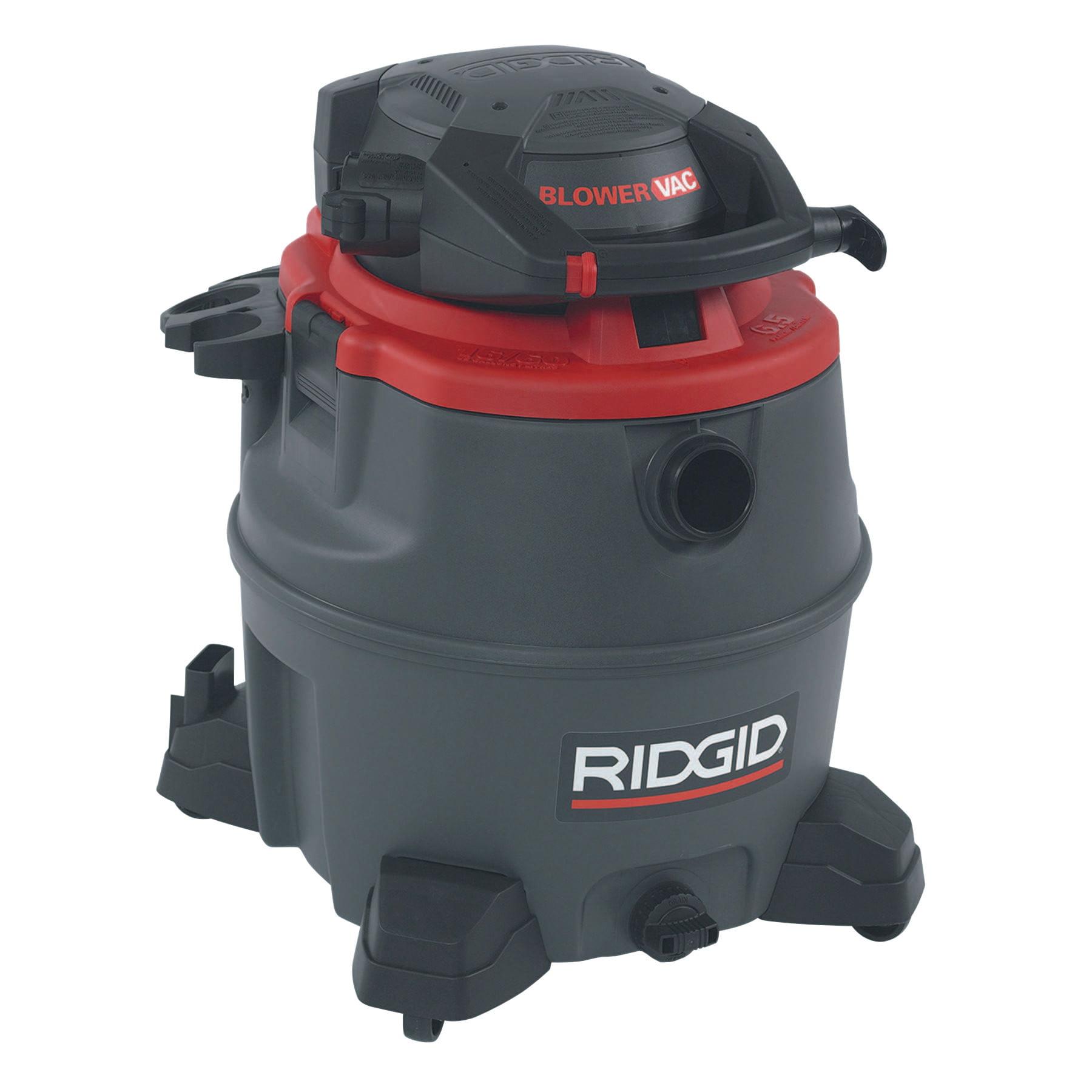 Ridgid Red Wet/Dry Vac Model 1620RV with Detachable Blower, 16 gal, 6.5 hp
