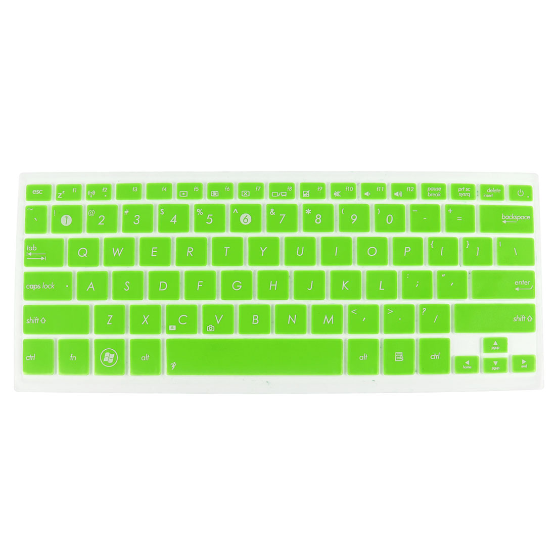 Unique Bargains Notebook Keyboard Protector Skin Cover Film Green Clear for Asus UX31 UX32