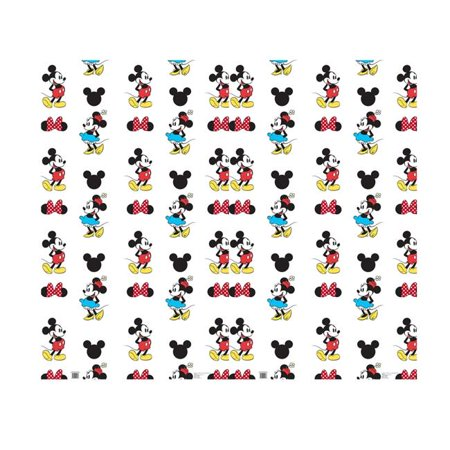 Mickey Mouse Cardboard Cutout (Advanced Graphics 2453 76 x 92 in. Mickey & Minnie Step & Repeat - Double Wide Cardboard)