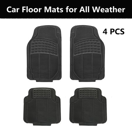 Replacement Auto Carpet (4pcs Universal Car Auto Floor Mats Floorliner Front Rear Carpet All Weather Mat)