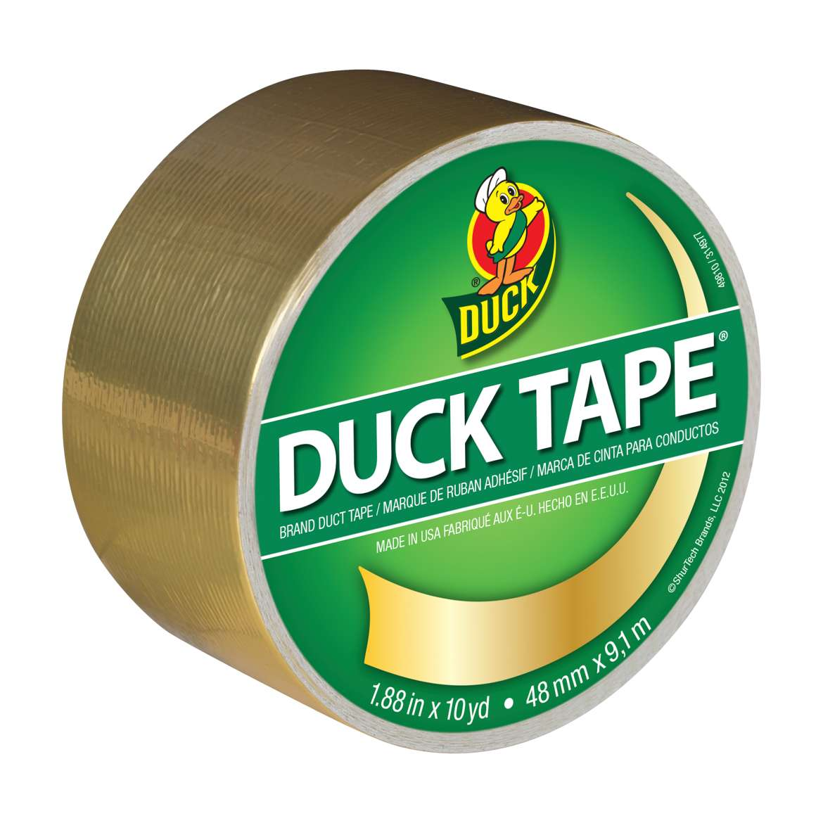Duck Brand Color Duct Tape, 1.88 in. x 10 yards, Metallic Gold