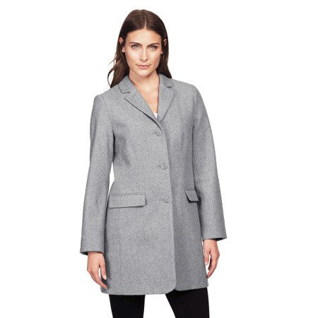 Ellos Plus Size Long Wool Blend Blazer Classic Wool Blazer