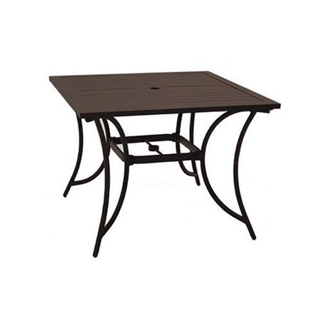 PATIO MASTER CORP Bellevue Patio Collection Dining Table, Aluminum, 40-In. Sq. ALH31312K01