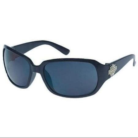 Women's Sun Lifestyle Black w/ Grey Lens Sunglasses HDS5006BLK-3, Harley (Harley Davidson Prescription Sunglasses)