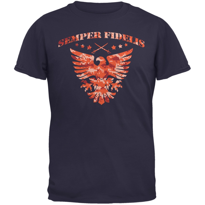 Semper Fidelis Eagle Navy Adult T-Shirt