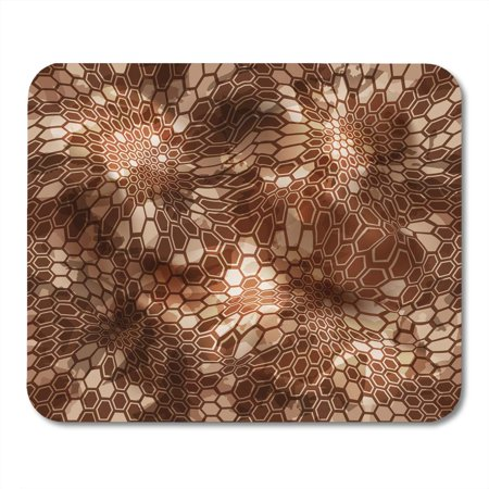 POGLIP Hexagonal Camouflage Patttern Abstract Geometric Camoflage with Hexagons Paintball Desert Camo Kryptek Mousepad Mouse Pad Mouse Mat 9x10 inch - image 1 de 1