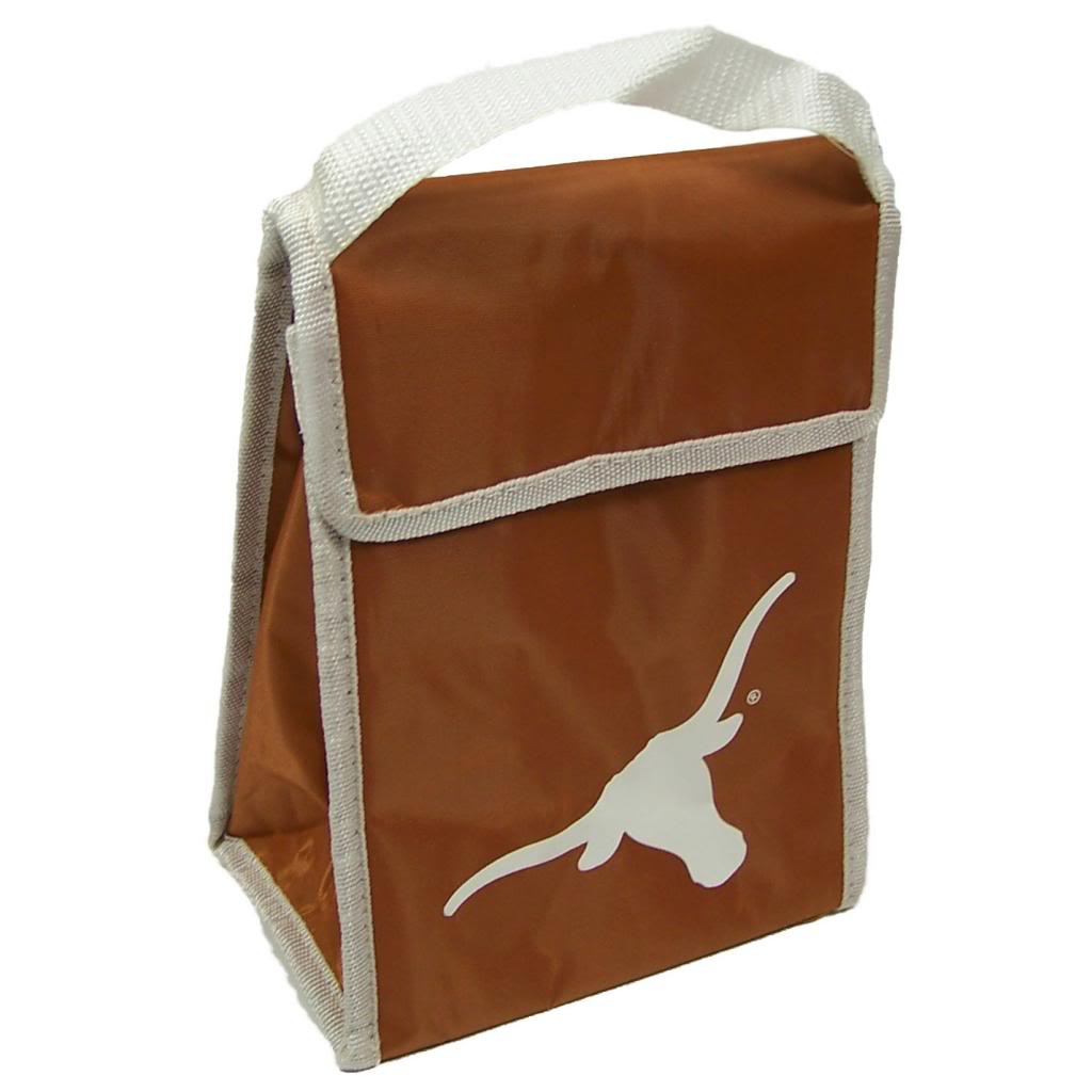 Texas Longhorns Official NCAA 9 inch x 7 inch x 5 inch  Insulated Lunch Box Lunchbox Bag by Forever Collectibles